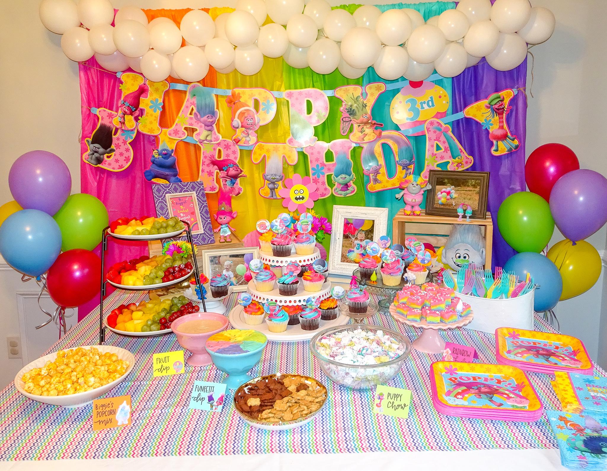 Audreys Trolls Birthday Party
