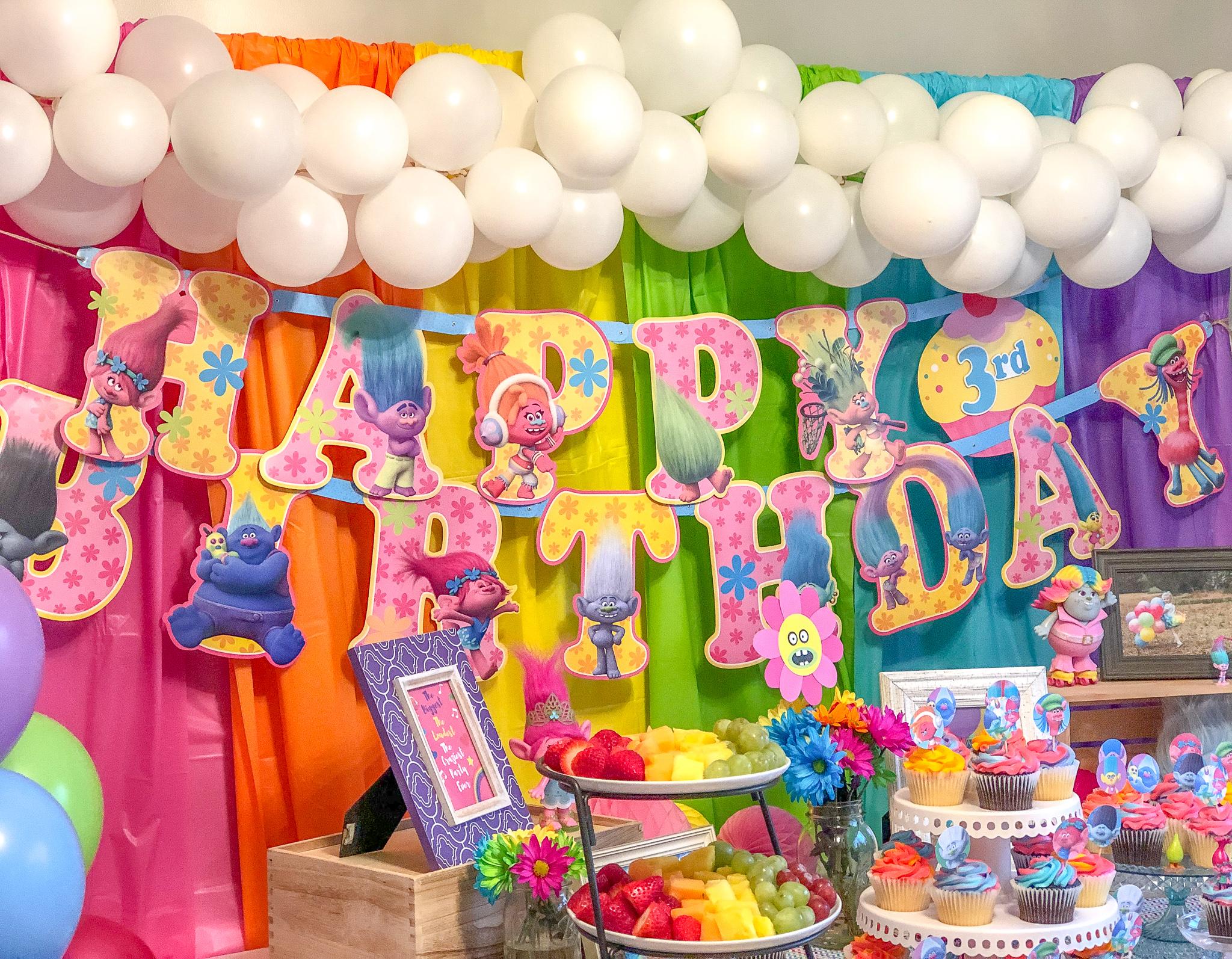 Trolls Birthday Party Decorations Ideas Food