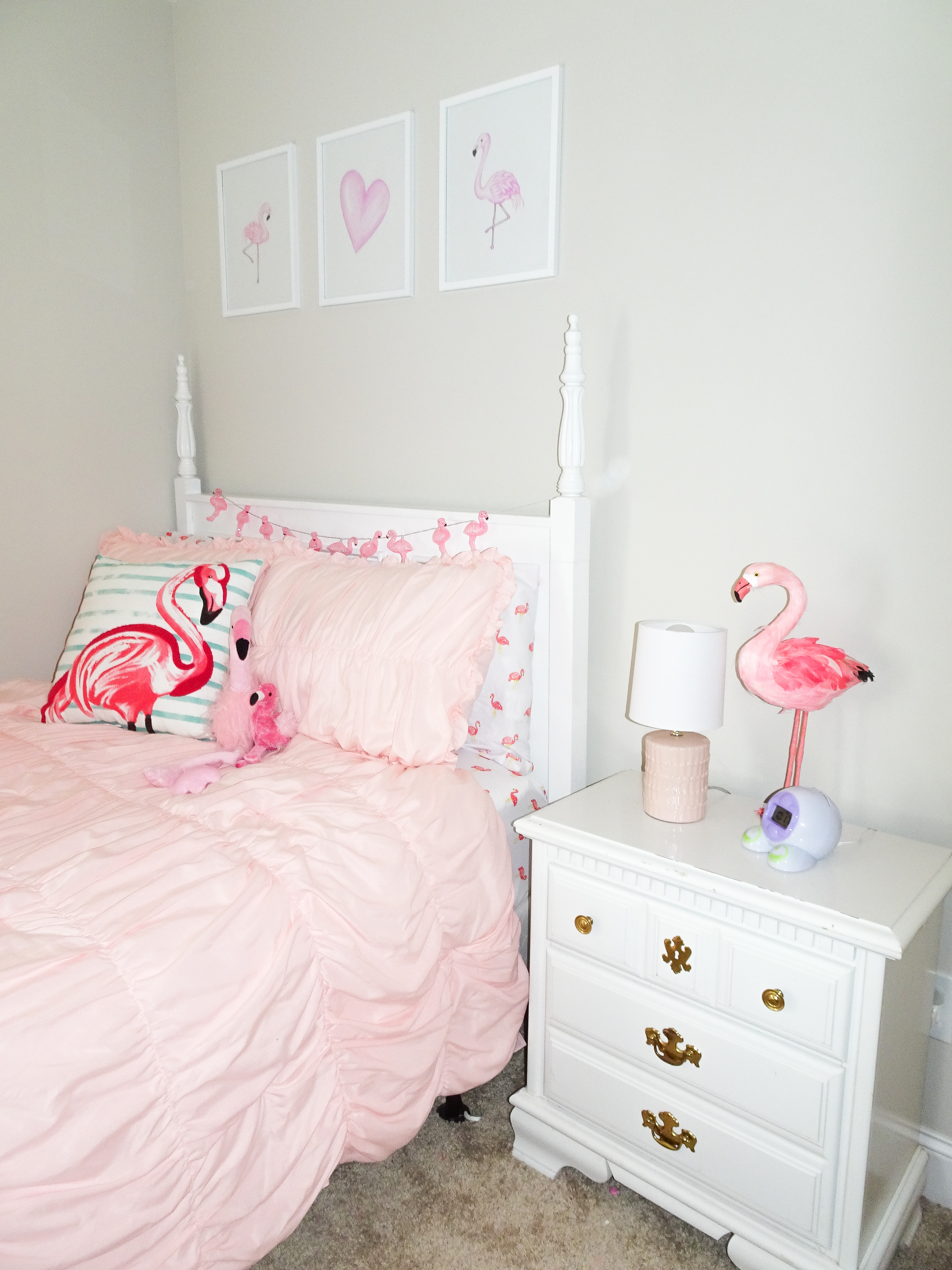 Audrey\'s Flamingo Big Girl Bedroom - Poppy + Grace
