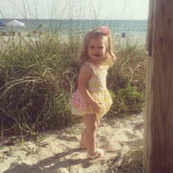Raley's First Beach Trip.
