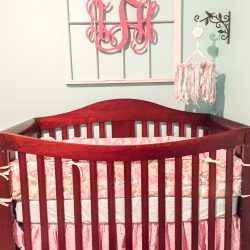 Audrey's Aqua and Pink Nursery (and some storage solutions too)