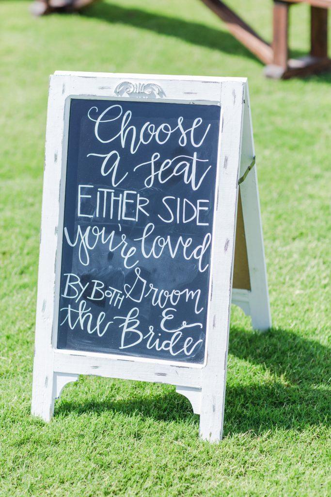 Handlettered chalkboard signs. Wedding chalkboard signs. Choose a seat, either side chalkboard sign for wedding ceremony. Wedding reception chalkboard sign. Wedding ceremony chalkboard sign.