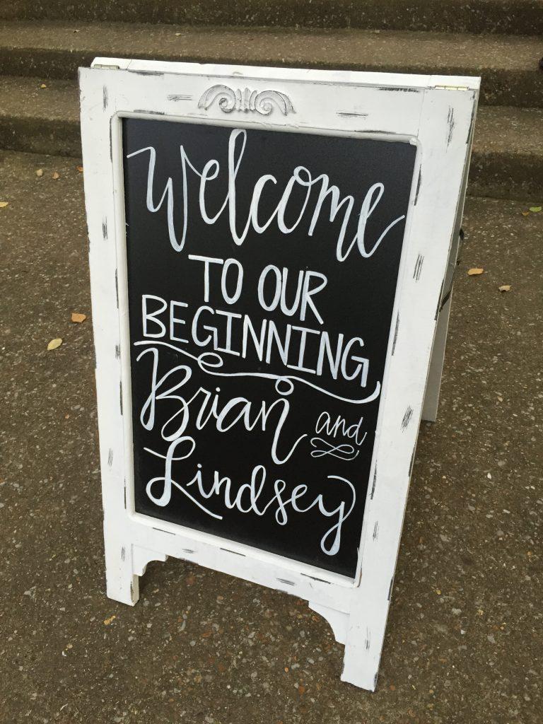 Handlettered chalkboard signs. Wedding chalkboard signs. Welcome to our wedding chalkboard sign for wedding ceremony or reception. Wedding reception chalkboard sign. Wedding ceremony chalkboard sign.