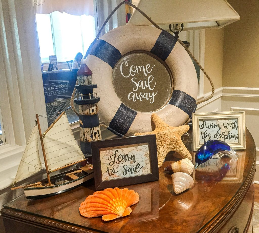 Bucket List themed travel party for travel agency. Travel agency customer appreciation dinner. Around the World Travel themed party. Travel themed dinner
