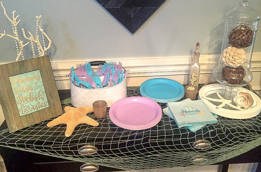 Mermaid first birthday party. Mermaid birthday party decor ideas. Mermaid birthday party food ideas. Mermaid birthday banner
