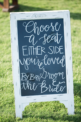 Rustic barn wedding meets vintage fairy tale. Meadow Creek Farm North Alabama Wedding Venue. Vintage Beauty and the Beast inspired wedding reception decoration ideas. Choose a seat not a side chalkboard sign