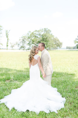 Rustic barn wedding meets vintage fairy tale. Meadow Creek Farm North Alabama Wedding Venue. Vintage Beauty and the Beast inspired wedding reception decoration ideas. Lace, mermaid style wedding gown