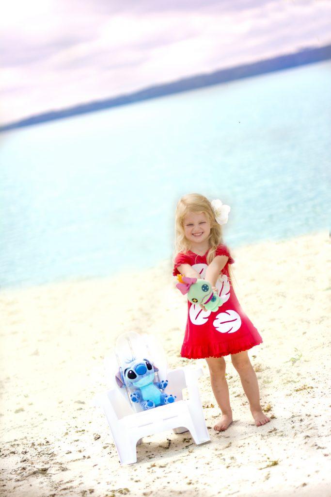 Lilo and Stitch photo shoot. Lilo and Stitch beach photo shoot