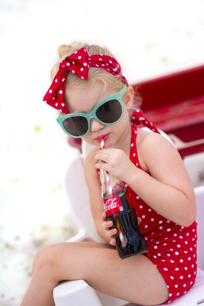 Vintage Coca-Cola photo shoot. Lilo and Stitch photo shoot. Lilo and Stitch beach photo shoot.
