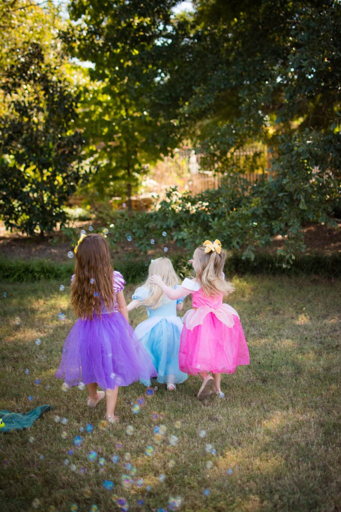 Princess photo shoot. Cousin princess photo shoot. Rapunzel, Aurora, Cinderella, Belle, and Elsa princess photo shoot