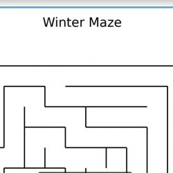 Winter Maze Worksheet from Education.com