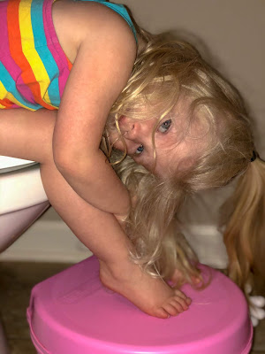 Tips for potty training a stubborn toddler. What we