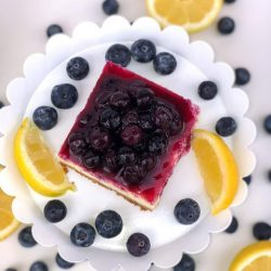 Lemon Blueberry Cheesecake Bars Recipe
