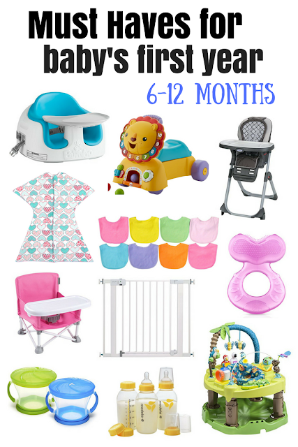 Baby Essentials for 6-12 month olds. Must have baby products. Baby registry and gift ideas for new moms