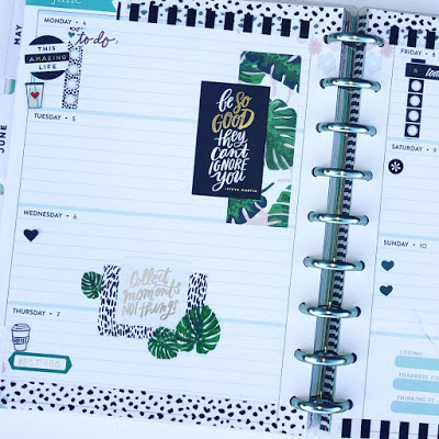 Happy Planner weekly layout. Happy Planner monthly spread layout. Functional horizontal layout
