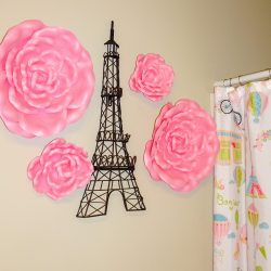 Girls Parisian Bathroom Makeover