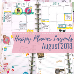 August 2018 Happy Planner Spreads