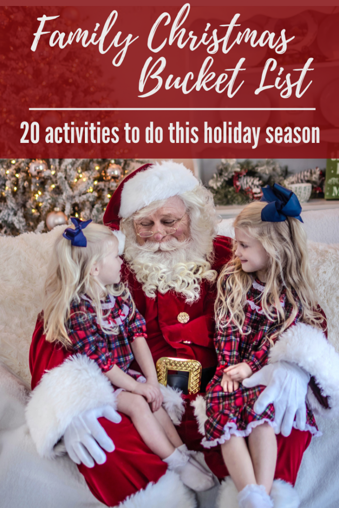 Christmas bucket list for the entire family. Christmas bucket list for kids and families