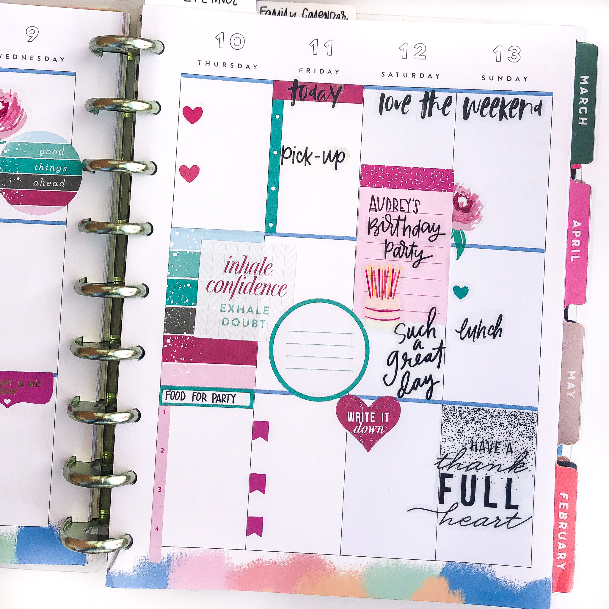 January 2019 Happy Planner Spreads