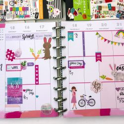 Happy Planner Spreads – April and May 2019