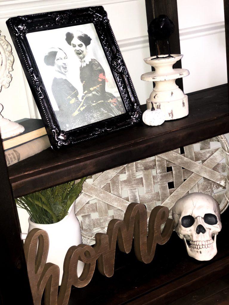 Spooky farmhouse Halloween decorations. Farmhouse Halloween decor. Spooky Halloween decor