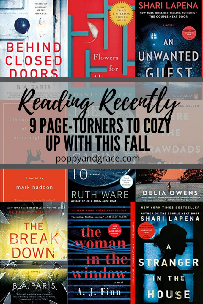 Reading Lately. Psychological thrillers and fictional stories. Recommended books to read for the winter. Recommended books to read this fall