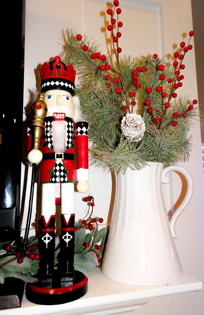 Farmhouse Christmas decor. Buffalo plaid and red Christmas decor. Farmhouse Christmas home tour 2019. Rustic Christmas decor.