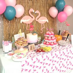 Audrey's Flamingo Birthday Party