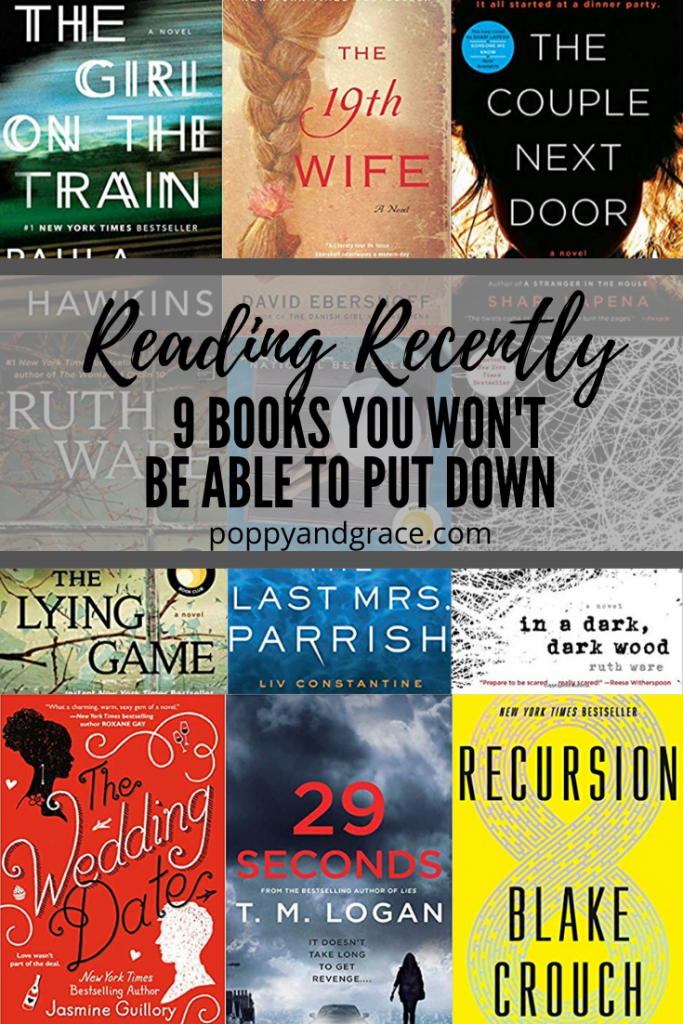 Reading Lately. Psychological thrillers and fictional stories. Recommended books to read for the winter. Recommended books to read this spring
