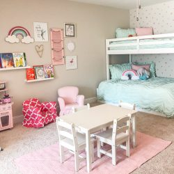 Mint and Pink Girls' Playroom