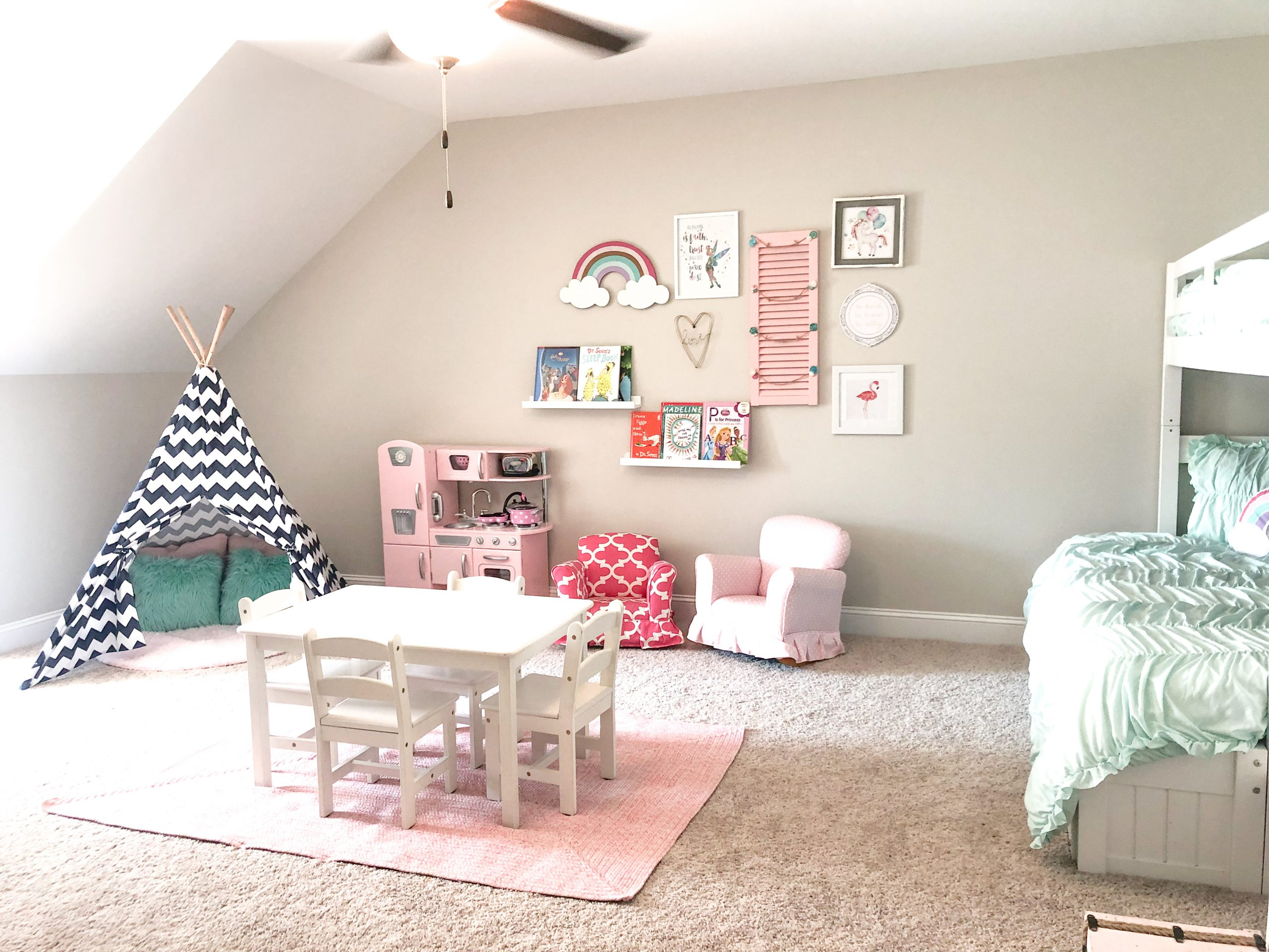 Picture of: Mint And Pink Girls Playroom Poppy Grace
