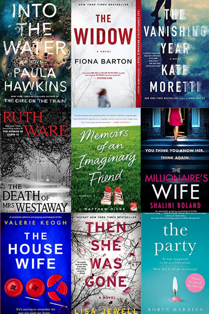 Reading Lately. Psychological thrillers and fictional stories. Recommended books to read for the summer. Recommended books to read this spring