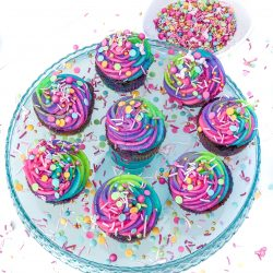 How to Make Rainbow Swirl Cupcakes and Frosting