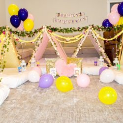 Rapunzel Birthday Party with Southern Sleepovers Alabama