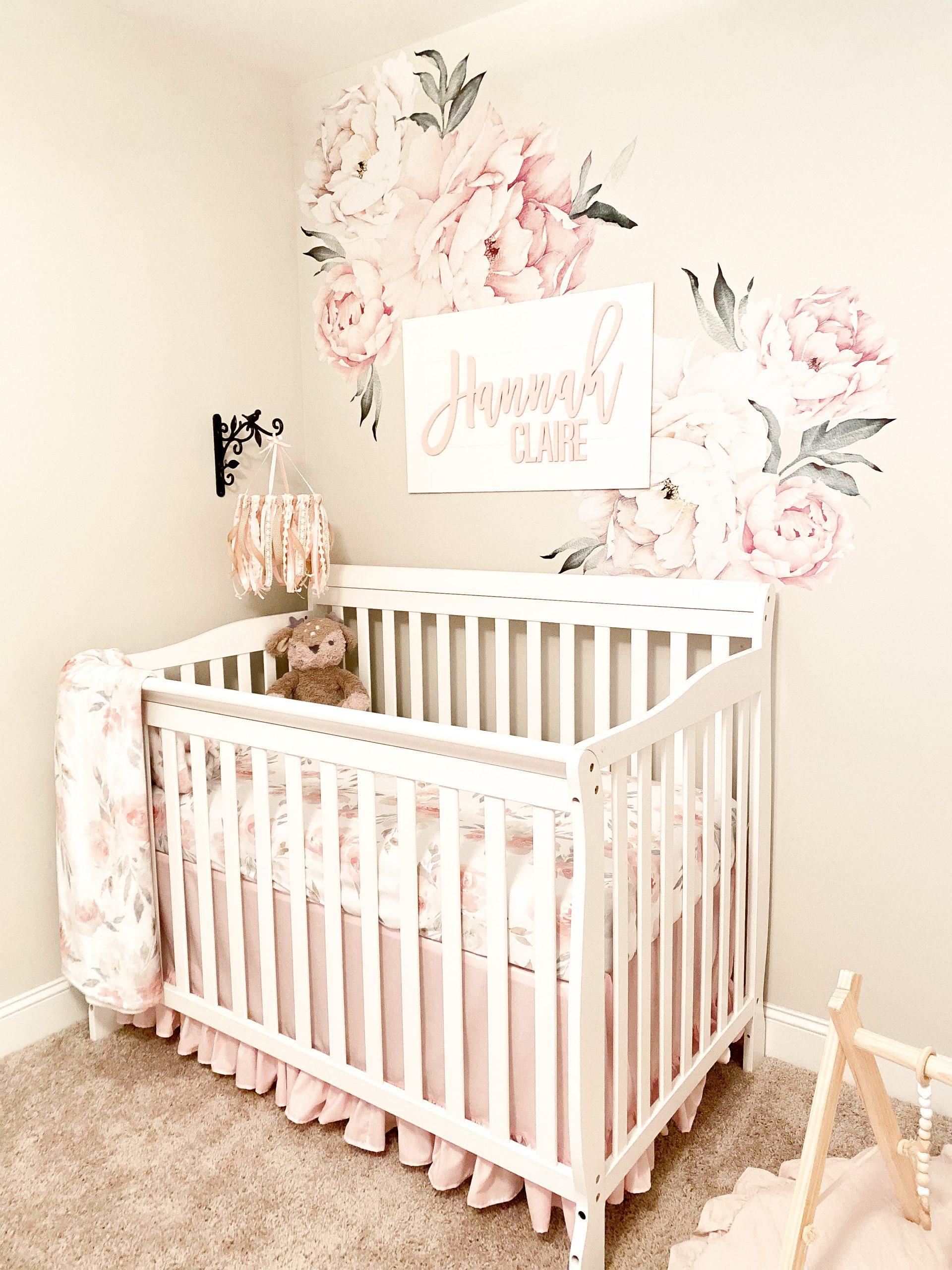 Hannah's Neutral and Pink Nursery