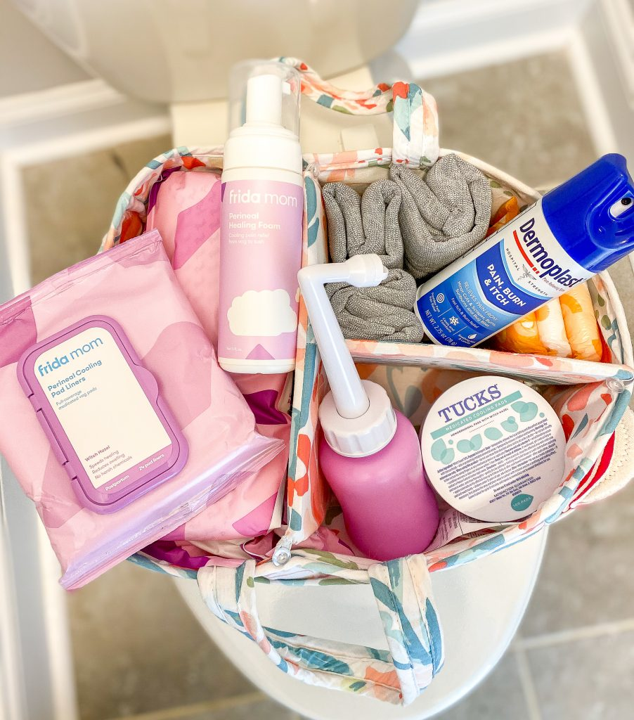 Postpartum care kit. Everything you need to take care of yourself postpartum. What people don't tell you about child birth and postpartum recovery. Everything you need to know about having a baby